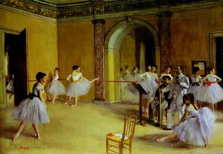 Ballet Rehearsal on the Set by Edgar Degas